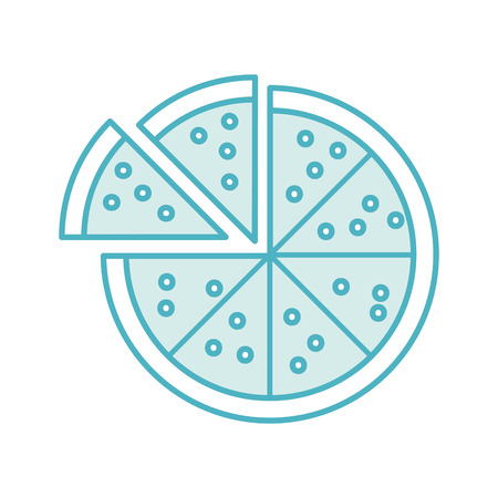 delicious pizza isolated icon vector illustration design Illustration