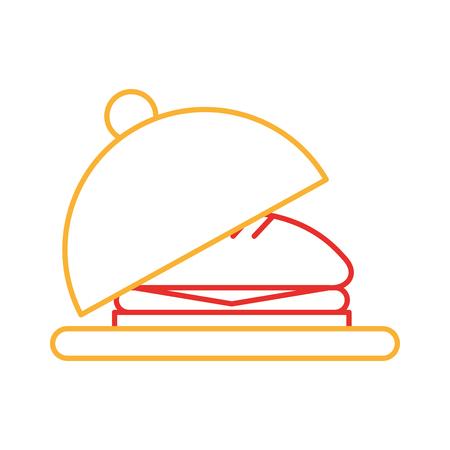 Plateau avec design délicieux illustration de vecteur de burger Banque d'images - 83366972