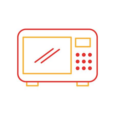 電子レンジ アイコン ベクトル イラスト デザインを分離しました。