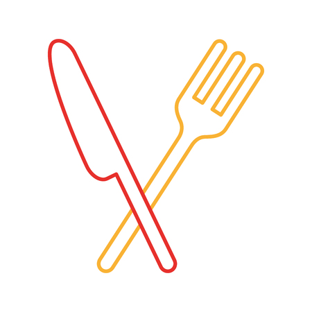 flatwares: cutlery kitchen isolated icon vector illustration design