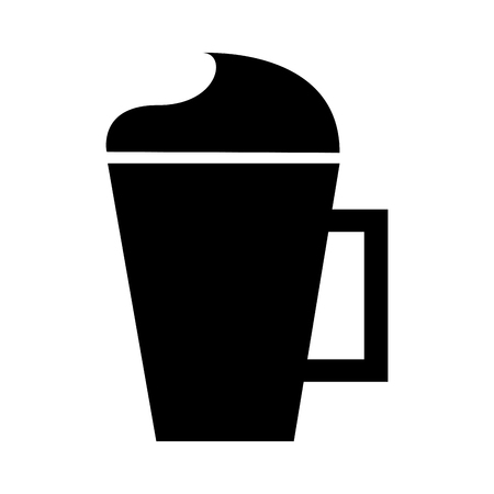 iced coffee cup isolated icon vector illustration design Çizim