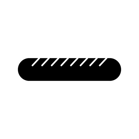 sausage fast food icon vector illustration design