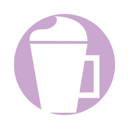 iced coffee cup isolated icon vector illustration design Illustration