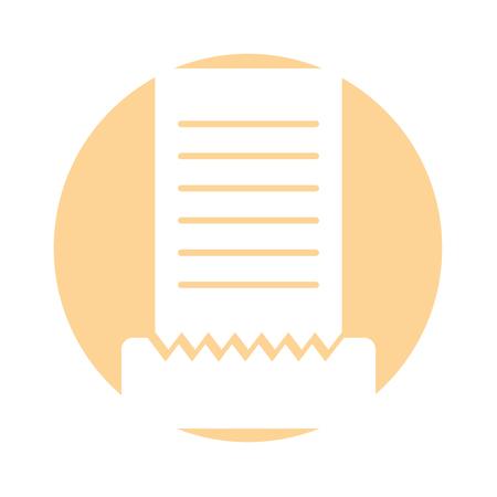 Conto del ristorante isolato icona illustrazione vettoriale di progettazione Archivio Fotografico - 83367201