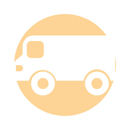 van vehicle isolated icon vector illustration design