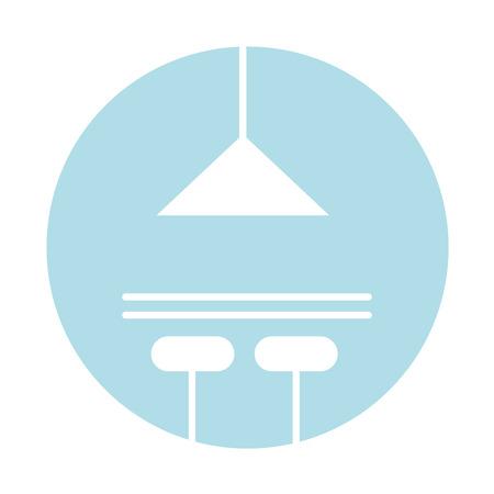 kitchen lamp isolated icon vector illustration design
