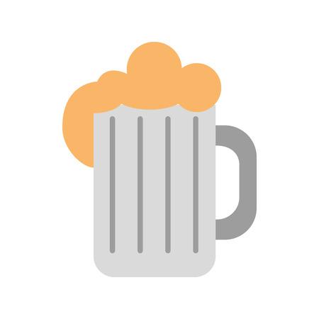 jarra de cerveza: Jarra de cerveza aislado icono de diseño de ilustración vectorial Vectores