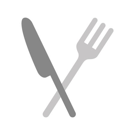 カトラリー キッチン分離アイコン ベクトル イラスト デザイン  イラスト・ベクター素材