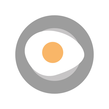 fried egg isolated icon vector illustration design