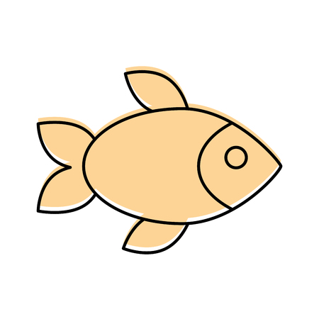 flesh eating animal: delicious fish isolated icon vector illustration design Illustration