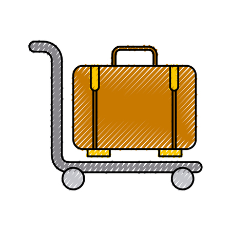 suitcase carrier isolated icon vector illustration design