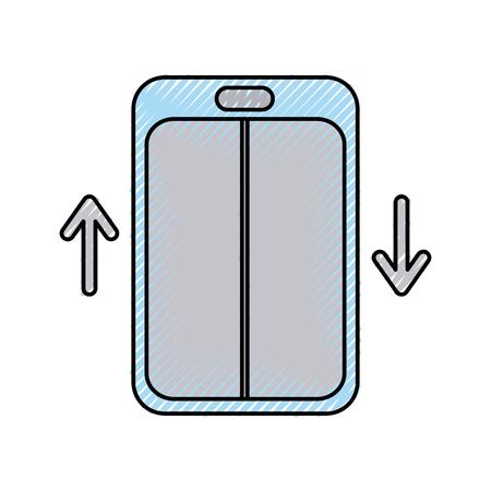 elevator service isolated icon vector illustration design Illustration