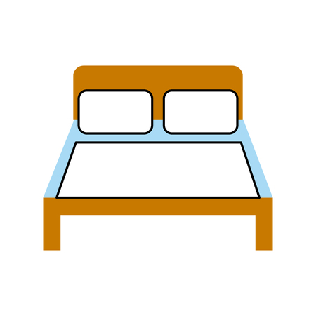 bed hotel isolated icon vector illustration design