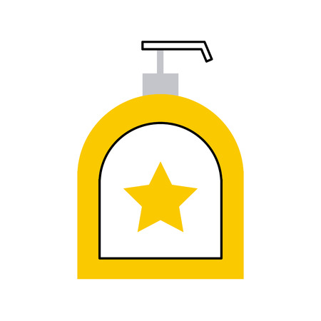 soap dispenser bottle icon vector illustration design