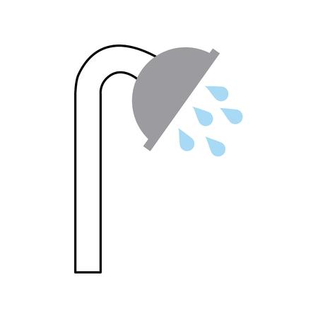 シャワーのタップ絶縁アイコン ベクトル イラスト デザイン 写真素材 - 83368574