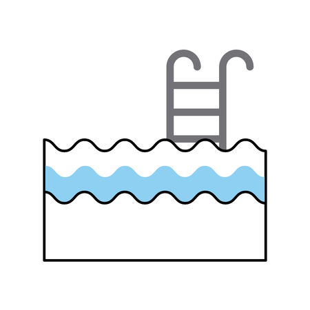 pool with stairs icon vector illustration design