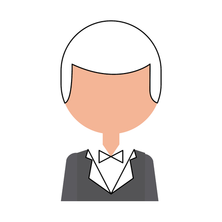 Hombre elegante con diseño de ilustración vectorial bowntie Foto de archivo - 83368653