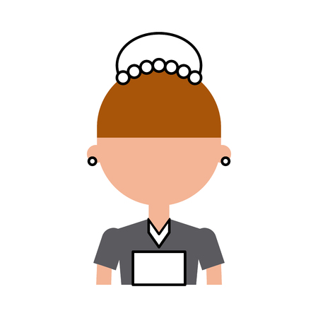 Housekeeper avatar character icon vector illustration design Ilustracja