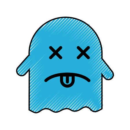 ghost  character with folder vector illustration design