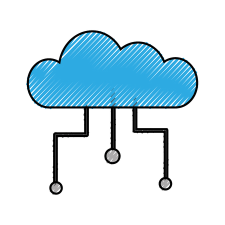 Cloud Computing isoliert Symbol Vektor-Illustration, Design, Standard-Bild - 83621614