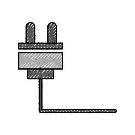 와이어 케이블 커넥터 아이콘 벡터 일러스트 레이 션 디자인 일러스트
