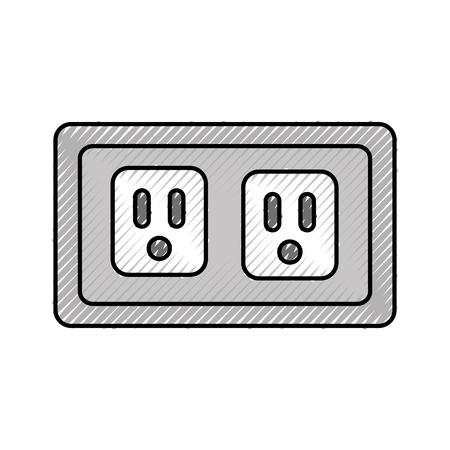 Prise de l & # 39 ; énergie isolé icône vecteur illustration design Banque d'images - 83621622