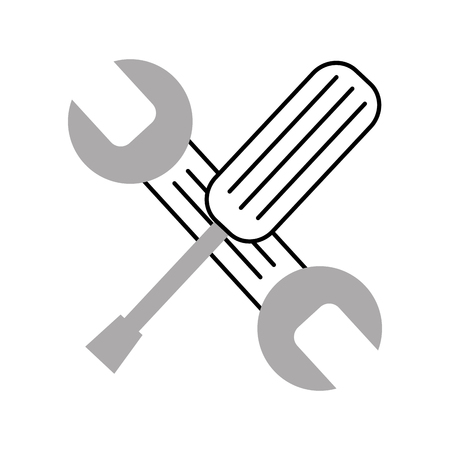 wrench and screwdriver isolated icon vector illustration design Stock Vector - 83621633