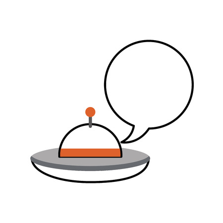 unidentified flying object: ufo flying with speech bubble vector illustration design Illustration