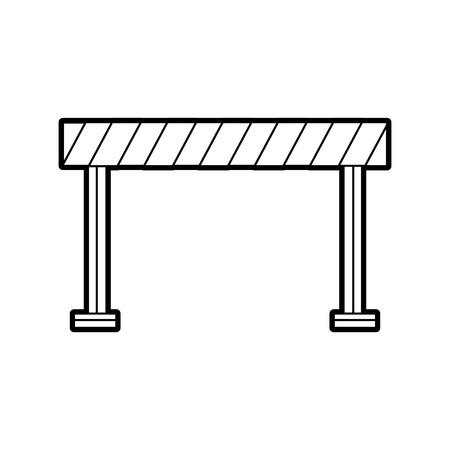 verkeershek geïsoleerd pictogram vector illustratie ontwerp Stock Illustratie