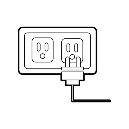 energy socket isolated icon vector illustration design Banco de Imagens - 83621845