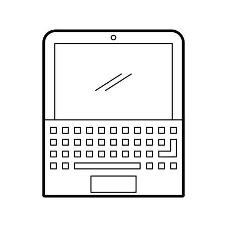 lcd display: laptop computer isolated icon vector illustration design