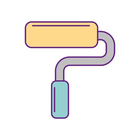 Rouleau de peinture isolé icône du design illustration vectorielle Banque d'images - 83621929