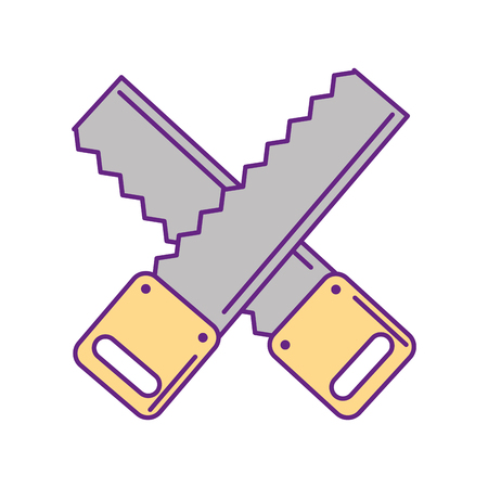 cross Woodworking saw isolated icon vector illustration design Stock Vector - 83621948