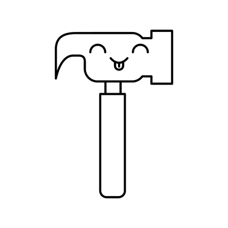 hammer tool character vector illustration design Illustration