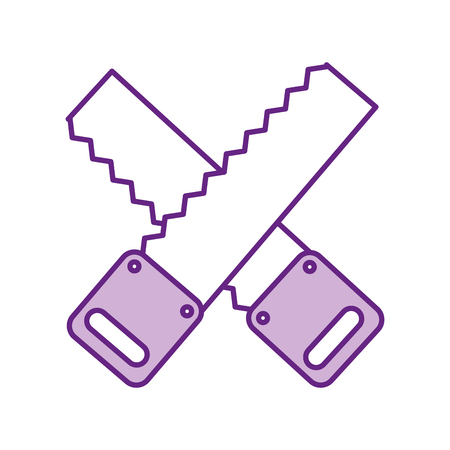 cross Woodworking saw isolated icon vector illustration design Illustration