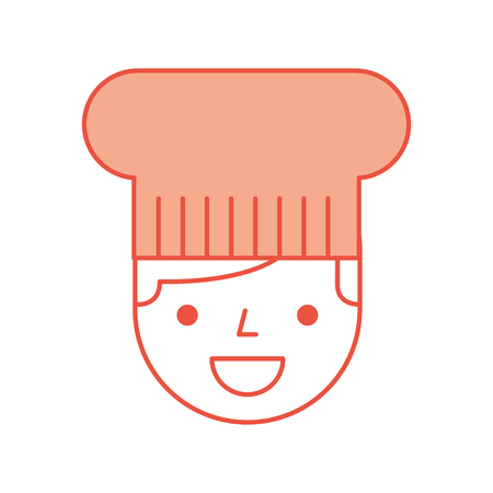 hotel chef avatar character vector illustration design