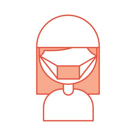 nurse avatar character icon vector illustration design