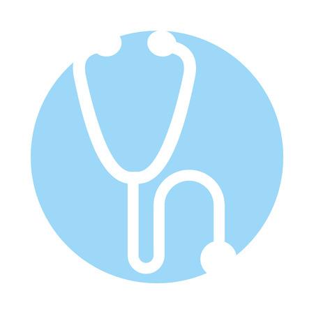 medical stethoscope isolated icon vector illustration design
