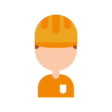 Trabajador de la construcción avatar character vector illustration design Foto de archivo - 83622731