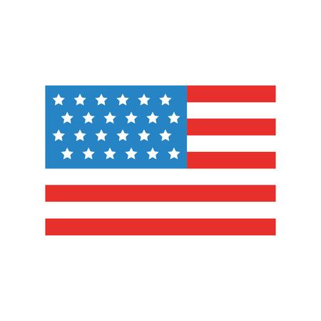usa flag isolated icon vector illustration design