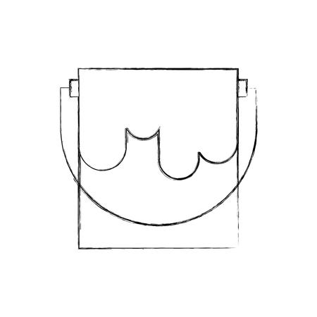 Pote de pintura aislado icono vector ilustración diseño Foto de archivo - 83622780