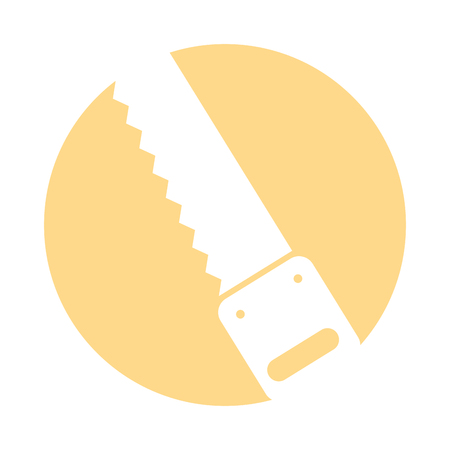 Woodworking saw isolated icon vector illustration design Illustration