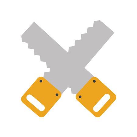 Cruz de carpintería vio icono aislado diseño de ilustración vectorial Foto de archivo - 83623221