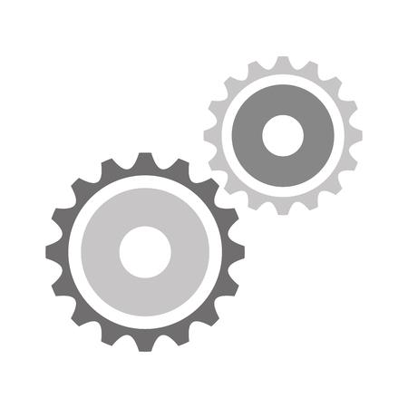 기어 기계 격리 된 아이콘 벡터 일러스트 디자인