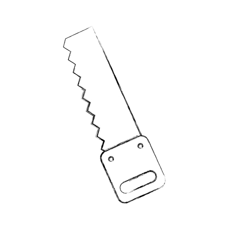 Woodworking saw isolated icon vector illustration design Stock Vector - 83622924