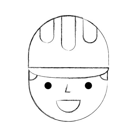 construction worker avatar character vector illustration design