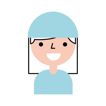 nurse avatar character icon vector illustration design