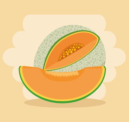 Frische organische Frucht Konzept Vektor-Illustration Grafik-Design Standard-Bild - 83623314