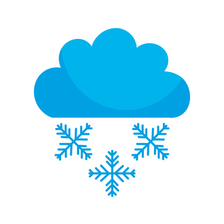 Beautiful fantasy cloud with snowflakes vector illustration design