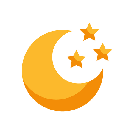 cute moon with stars vector illustration design